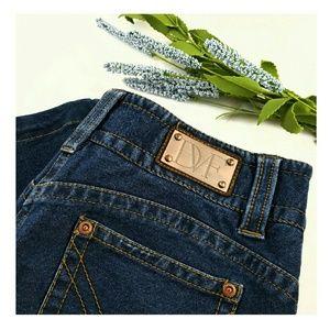Diane von Furstenberg Denim - DVF Minimalist Dark Denim Jersey Jeans
