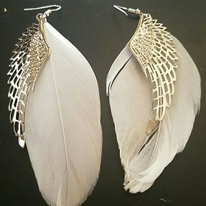 Jewelry - New feather angel Wing native earrings