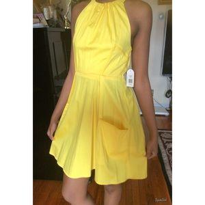 Jessica Simpson Other - Jessica Simpson Halter Yellow Dress size 2