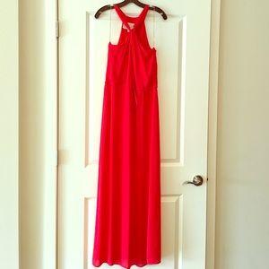 Rory Beca Dresses & Skirts - Rory Becca Red Silk Maxi Dress