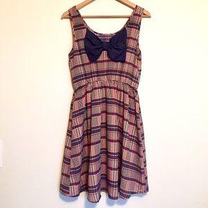 ModCloth Dresses & Skirts - Plaid bow dress by Modcloth