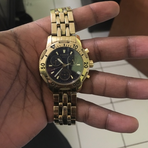 fd65a575f Tissot Accessories | Prs200 Gold With Blue Dial Chronograph | Poshmark