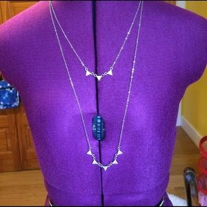 Gold double necklace