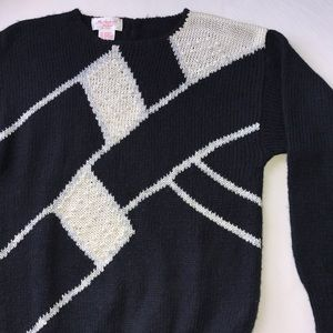 Vintage Sweaters - Vintage Art Deco Sweater, Medium