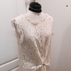 JOIE ivory lace shift dress 🌸