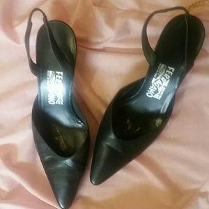 Salvatore Ferragamo Shoes - Salvatore Ferragamo Sling back Kitten Heels