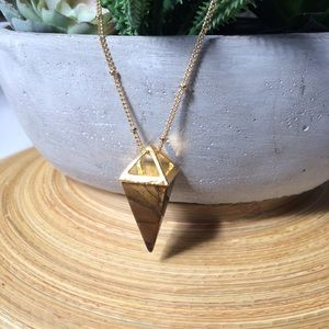 Jewelry - Tiger's Eye Inverted Pyramid necklace✨HP✨