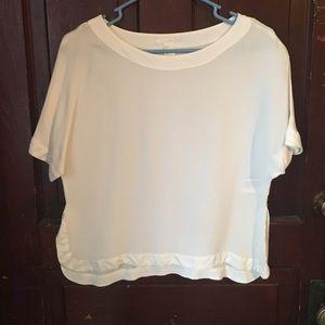 H&M - white flowy top, size 6