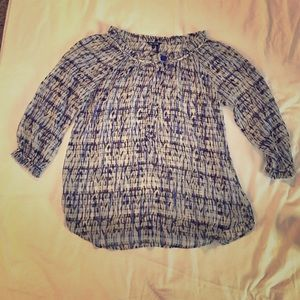 NIC + ZOE Tops - Nic and Zoe Patterned Flowy Top Medium
