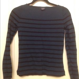 Gap green and black striped wool sweater