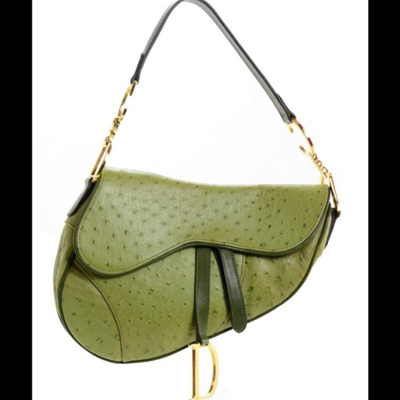 c7961eb14a3 Christian Dior Saddle Shoulder Ostrich Bag. M_58af305abcd4a7a4e800d91e