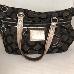Coach jacquard purse