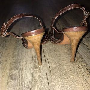 Aldo Shoes - ALDO ESPRESSO COLOR ANKLE STRAP KITTEN HEELS