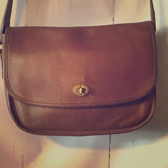e71dd7be85b Coach Bags   Vintage Crossbody Turn Lock Flap Saddle Bag   Poshmark