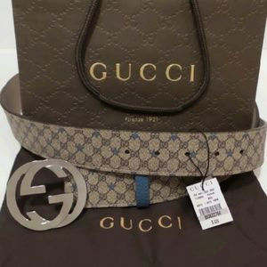 Gucci Other - Gucci Rare Mens Belt Blue Stars NWT Sizes Avail.