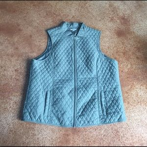 Great Northwest Clothing Company Jackets & Blazers - Olive Plus Size Quilted Vest
