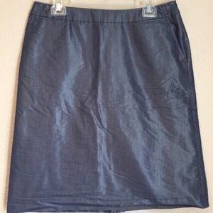 J. Crew Dresses & Skirts - J. Crew metallic blue pencil skirt