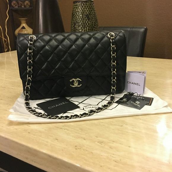 e04a975624b2 Bags | Chanel Jumbo Caviar Classic Flap Silver Hardware | Poshmark