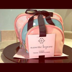 Nanette Lepore Handbags - 💕nanette lepore 💕- 3-piece Travel Cosmetic Bags