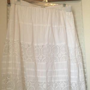 Beautiful White Lace skirt!