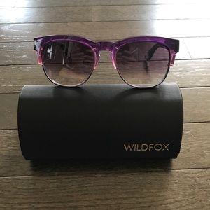 🎉HP🎉Wildfox Purple Wayfarer Clubfox