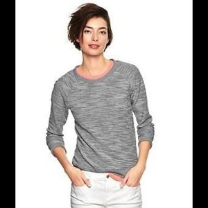 GAP Sweaters - GAP tweed reversible soft cotton pullover NWT