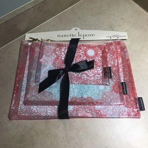 Nanette Lepore Handbags - 3-piece nanette lepore clear travel pouches