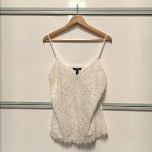 Lauren Ralph Lauren Tops - Lauren Ralph Lauren cream lace cami top Sz 14