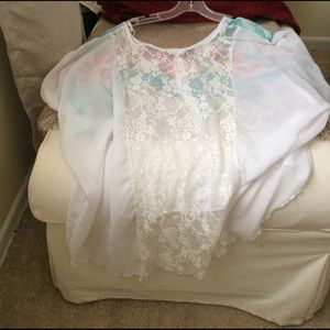 no name Tops - Sheer floral Shirt