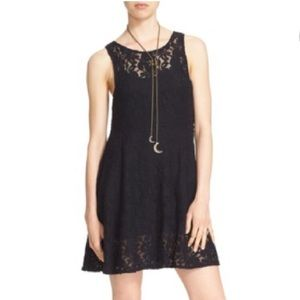 New Free People XS Black Lace Fit & Flare Dress