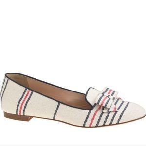 J.Crew Cleo stripe canvas loafers