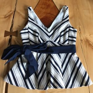 Anthropologie Maeve Peplum Top with tie