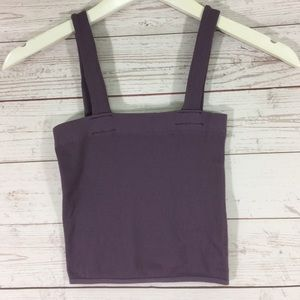 Nw Free People Womans Lavender Sleeveless Crop Top