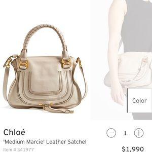 Chloe Handbags - Like new Chloe medium Marcie leather satchel