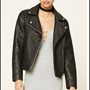 Textured Moto Jacket
