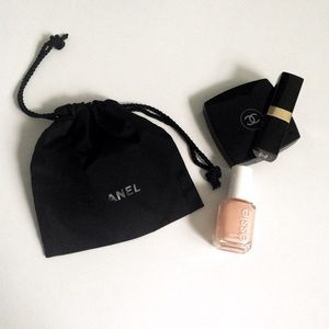 CHANEL Other - CHANEL Black makeup pouch bag