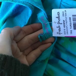 Nordstrom Dresses - Girl's 6 - 7 Dragonfly Ruffle Tank Cotton Dress