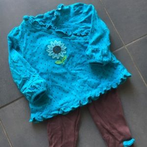 Le Top Other - Turquoise and Brown Spring Outfit