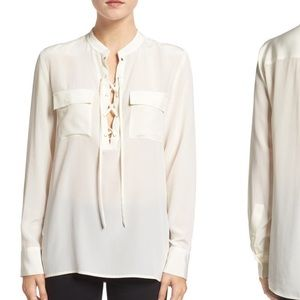 Madewell Tops - Offer 50% Off 🎉 NWT Madewell Silk Monroe Lace Up