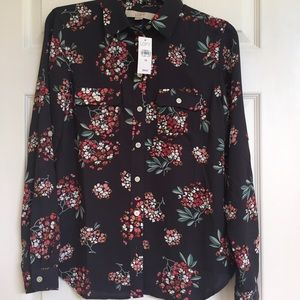 Loft Fashion Tops - Lovely Loft button-up blouse. NWT