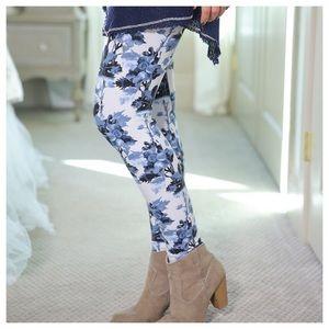 Infinity Raine Pants - ⛔️CLOSEOUT Blue Floral Print Leggings