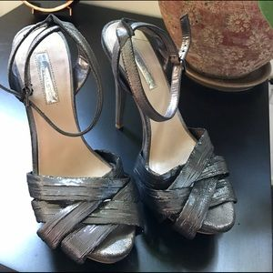 H by Halston 7.5 Metallic Heels