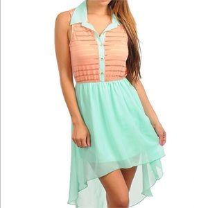 Dresses & Skirts - Mint and Peach dress