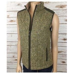 J. McLaughlin Jackets & Blazers - J.McLaughlin Tweed Vest Jacket Zip Front Wool M
