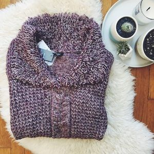 Tribal Sportswear Sweaters - NWT Burgundy and White Wool Sweater