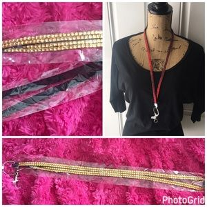 Accessories - Gold rhinestones lanyard