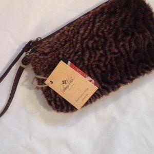 Patricia Nash Handbags - Patricia Nash Wristlet, Sherpa & Leather, NWT
