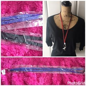 Accessories - Blue rhinestones lanyard