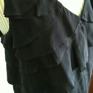 Sandra Ingrish Tops - Designer sleeveless black silk top