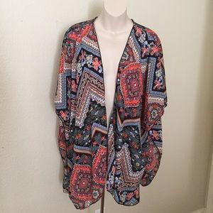 Milly Sweaters - New Milly Daisies Bandana Print Kimono Cardigan XL